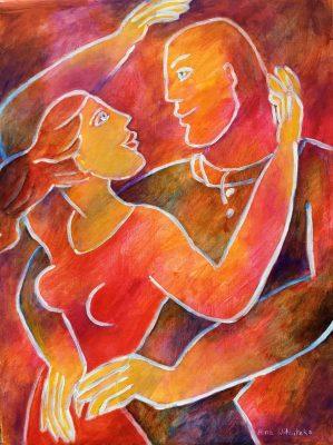 Alina Witwitzka - Painting - A hug