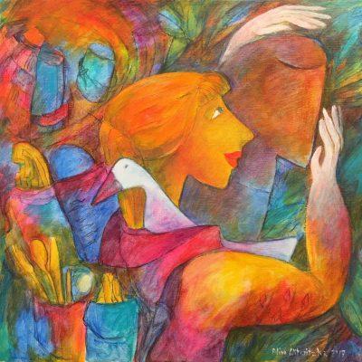 Alina Witwitzka - Painting - A treasure found in jungle