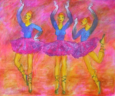 Alina Witwitzka - Painting - Ballet School