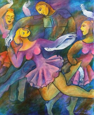 Alina Witwitzka - Painting - Ballet performance