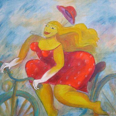 Alina Witwitzka - Painting - Bicycle Tour