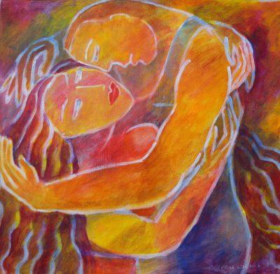 Alina Witwitzka - Painting - Embrace