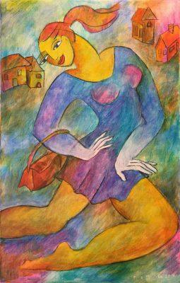 Alina Witwitzka - Painting - Excursion