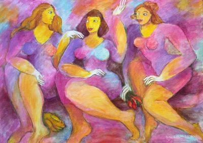 Alina Witwitzka - Painting - Friends' meeting