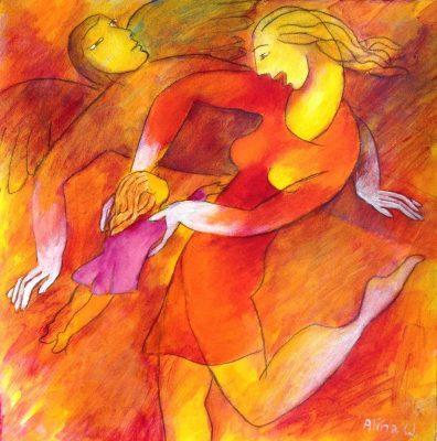 Alina Witwitzka - Painting - Hulla jump