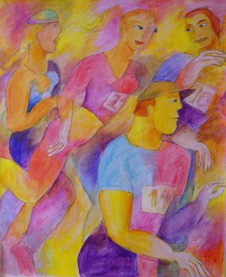 Alina Witwitzka - Painting - Marathon