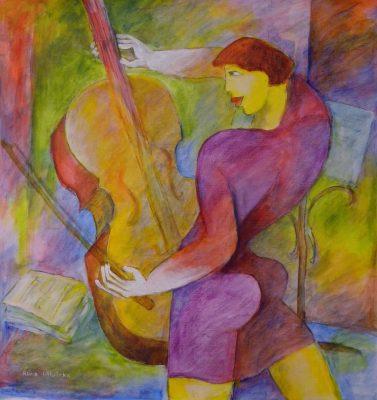 Alina Witwitzka - Painting - My cello