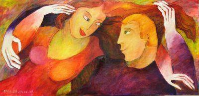 Alina Witwitzka - Painting - My treasure
