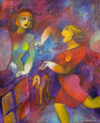 Alina Witwitzka - Painting - New glasses