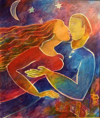 Alina Witwitzka - Painting - Night dream