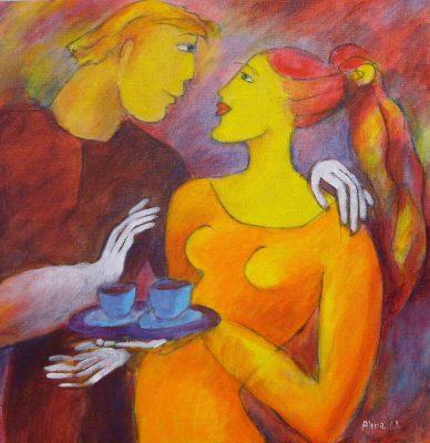 Alina Witwitzka - Painting - Party