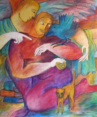 Alina Witwitzka - Painting - Teaching