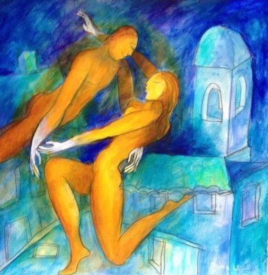Alina Witwitzka - Painting - The dream of Provence