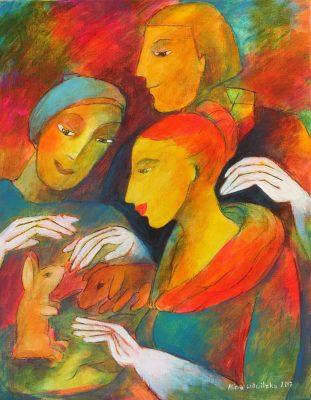 Alina Witwitzka - Painting - The little bunny