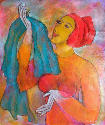 Alina Witwitzka - Painting - The new shawl