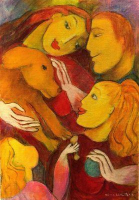 Alina Witwitzka - Painting - The whole family