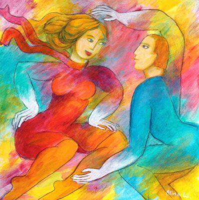 Alina Witwitzka - Painting - The wind's thunderstorm