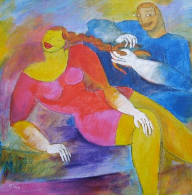 Alina Witwitzka - Painting - your braid